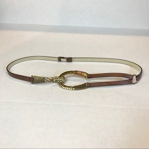 Chico's Belt- Hook Buckle, Adjustable Back Sz.M/L